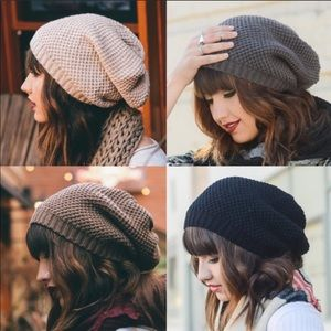 Accessories - Knit slouchy beanie hat